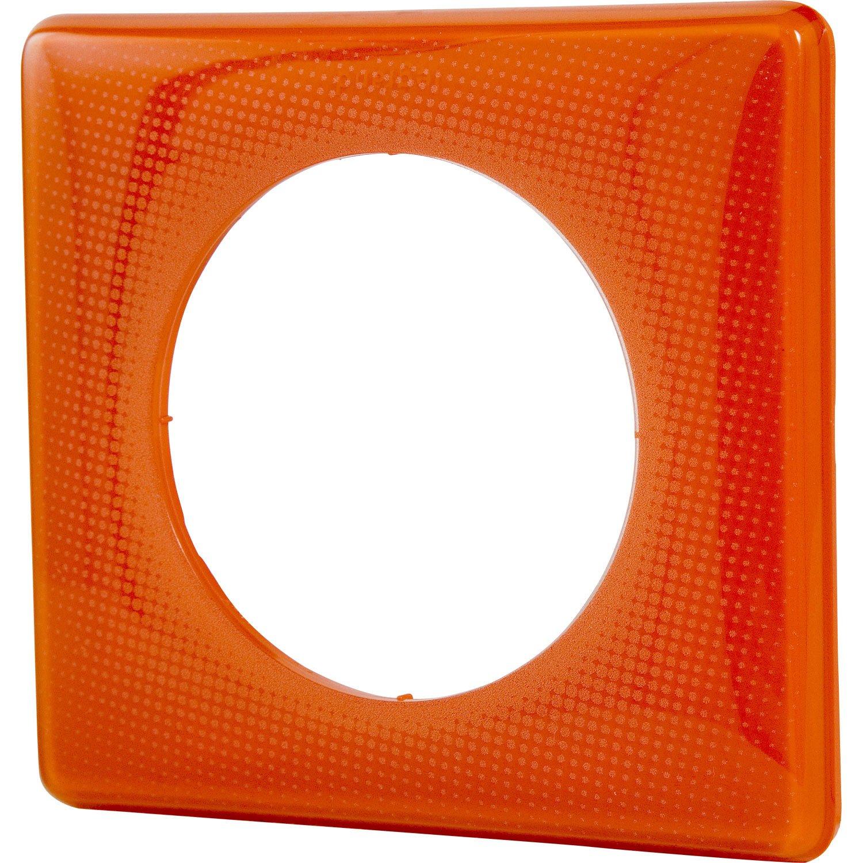plaque c liane legrand orange brillant leroy merlin. Black Bedroom Furniture Sets. Home Design Ideas
