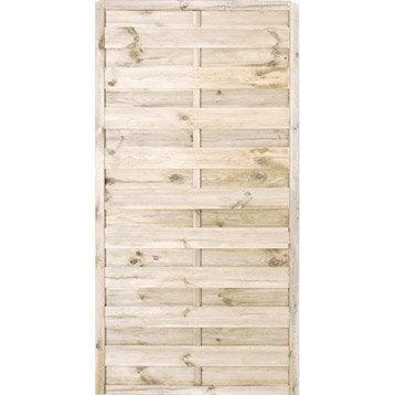 Panneau bois occultant Savanne, l.90 cm x h.200 cm, naturel
