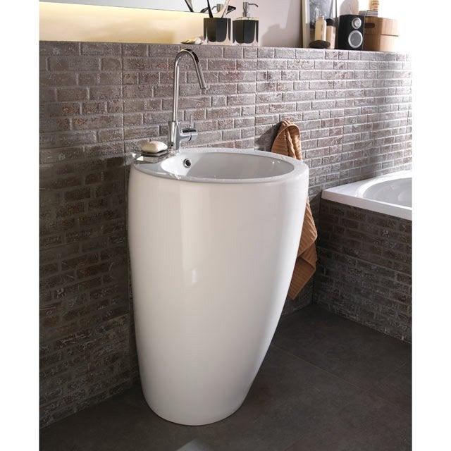 Lavabo colonne en céramique blanc Ic´ne