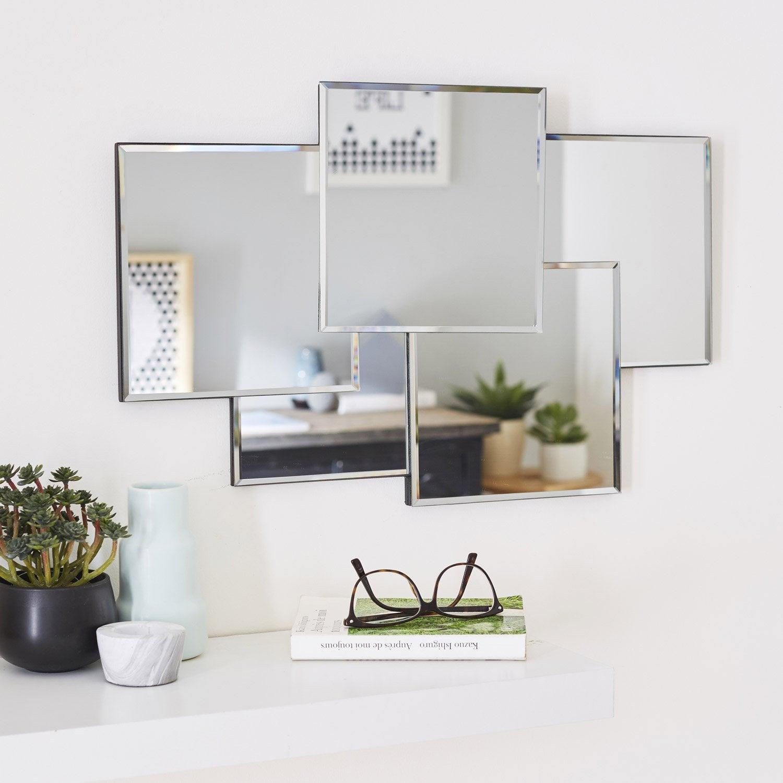 Miroir design carr silver miroir leroy merlin for Miroir sejour design