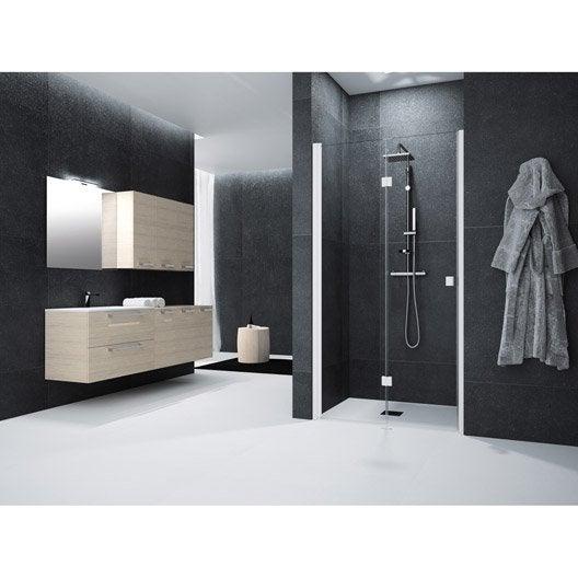 Porte de douche pivot pliante 90 cm transparent neo - Porte douche pliante 90 ...
