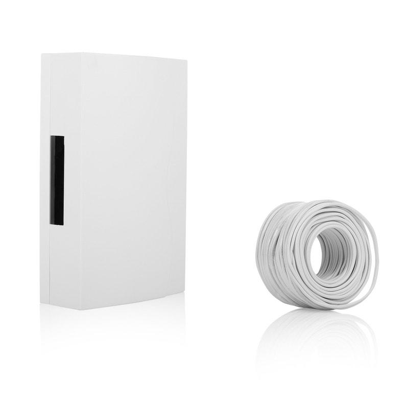 Carillon Filaire Bouton Poussoir Et Câbles Blanc 765 Smartwares