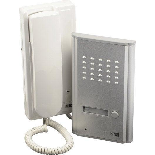 interphone audio 2 fils scs sentinel orion 3208d leroy merlin. Black Bedroom Furniture Sets. Home Design Ideas
