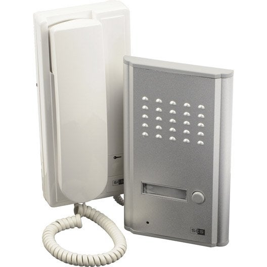 interphone filaire scs sentinel orion 3208d leroy merlin. Black Bedroom Furniture Sets. Home Design Ideas