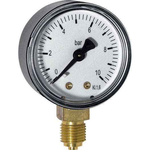 Manomètre radial pour réducteur | Leroy Merlin