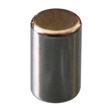 Lot de 8 magnets Métal cylindre, argent l.6.7 x H.11 cm