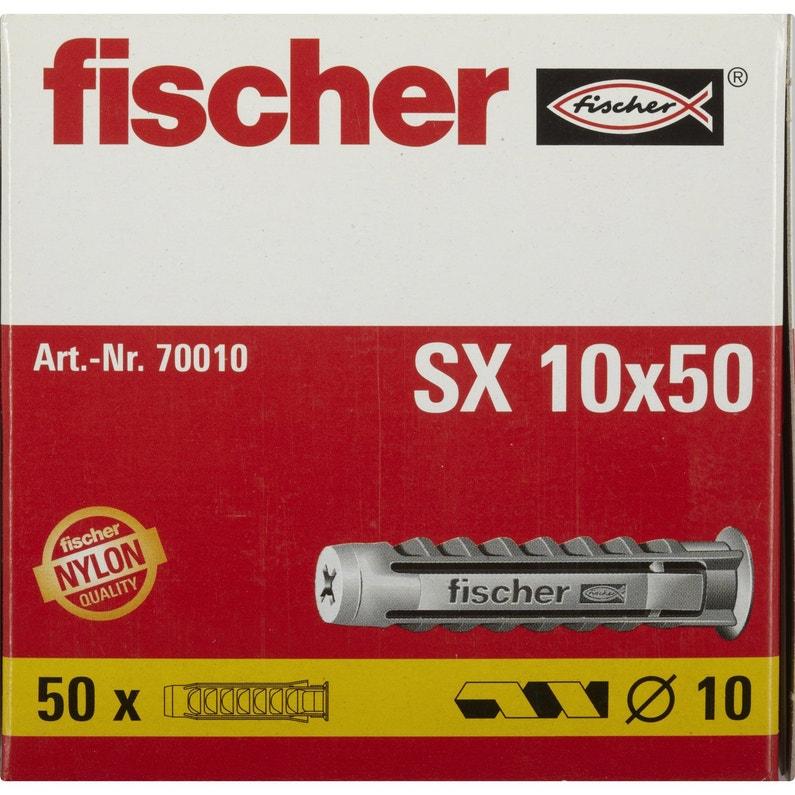 Lot De 50 Chevilles à Expansion Sx Fischer Diam10 X L50 Mm