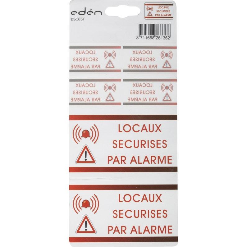 Autocollants Surveillance Alarme Eden Bs185f Leroy Merlin