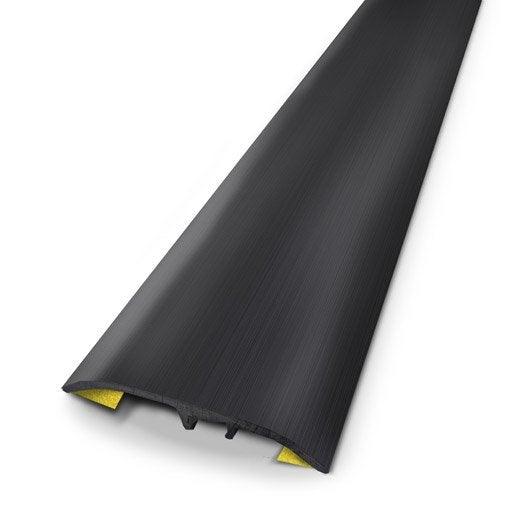 Barre de seuil aluminium anodis noir x l 3 7 cm for Barre de seuil large