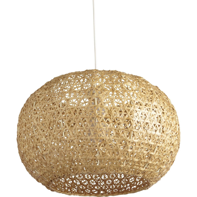 Suspension, e27 bord de mer Hana bambou naturel 1 x 60 W INSPIRE