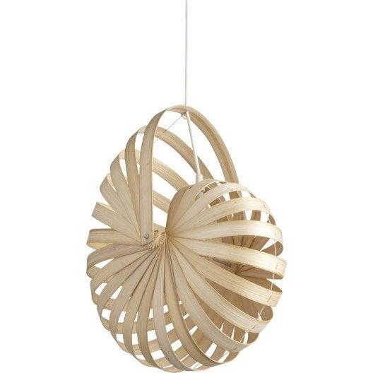 suspension nature sheru bambou naturel 1 x 60 w inspire leroy merlin. Black Bedroom Furniture Sets. Home Design Ideas