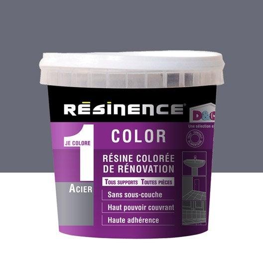 Résine colorée Color RESINENCE, gris acier métallisé, 0.5L | Leroy