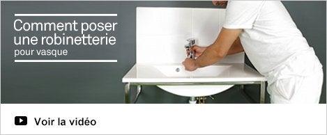 Pose robinetterie de salle de bains