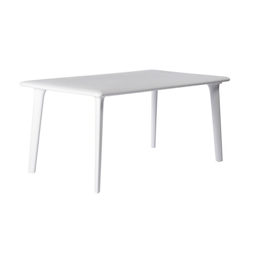 table de jardin dessa rectangulaire blanc 6 personnes leroy merlin. Black Bedroom Furniture Sets. Home Design Ideas