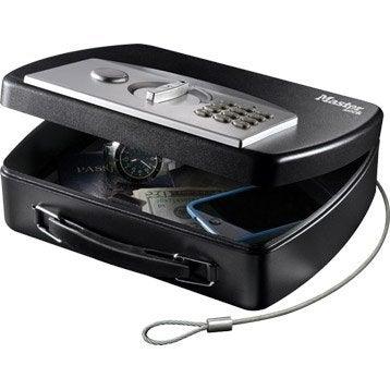 Minicoffre MASTERLOCK Minisafe à accrocher, H.7.4 x l.25.4 x P.20.1 cm