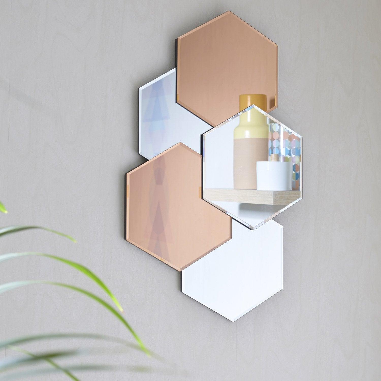 miroir design hexa bicolor miroir - Miroir Design