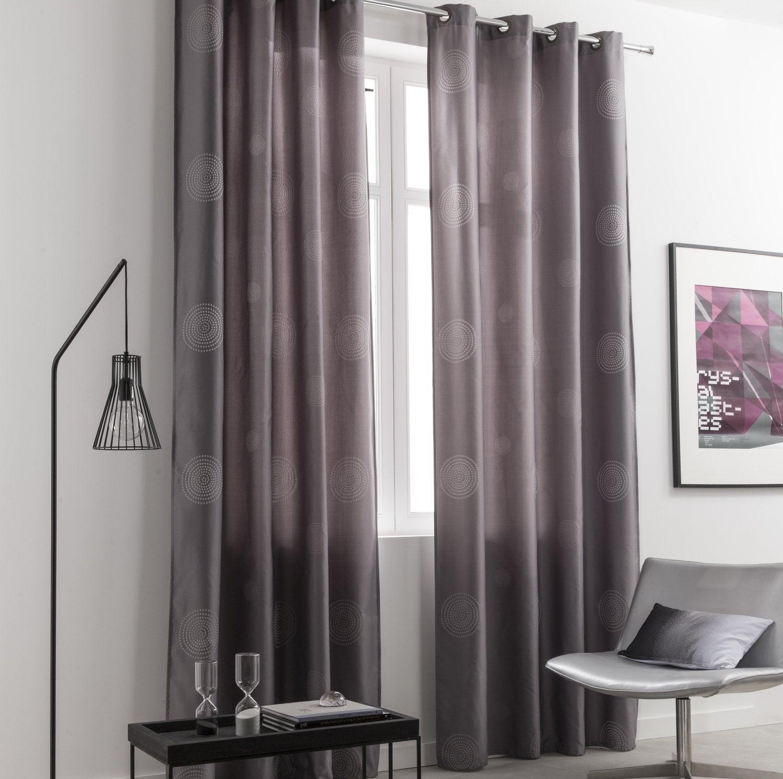 de longs rideaux gris pour un aspect chaleureux dans le. Black Bedroom Furniture Sets. Home Design Ideas