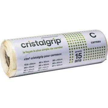 Support adhésif Cristalgrip pour carrelage mural de largeur 18,5 cm