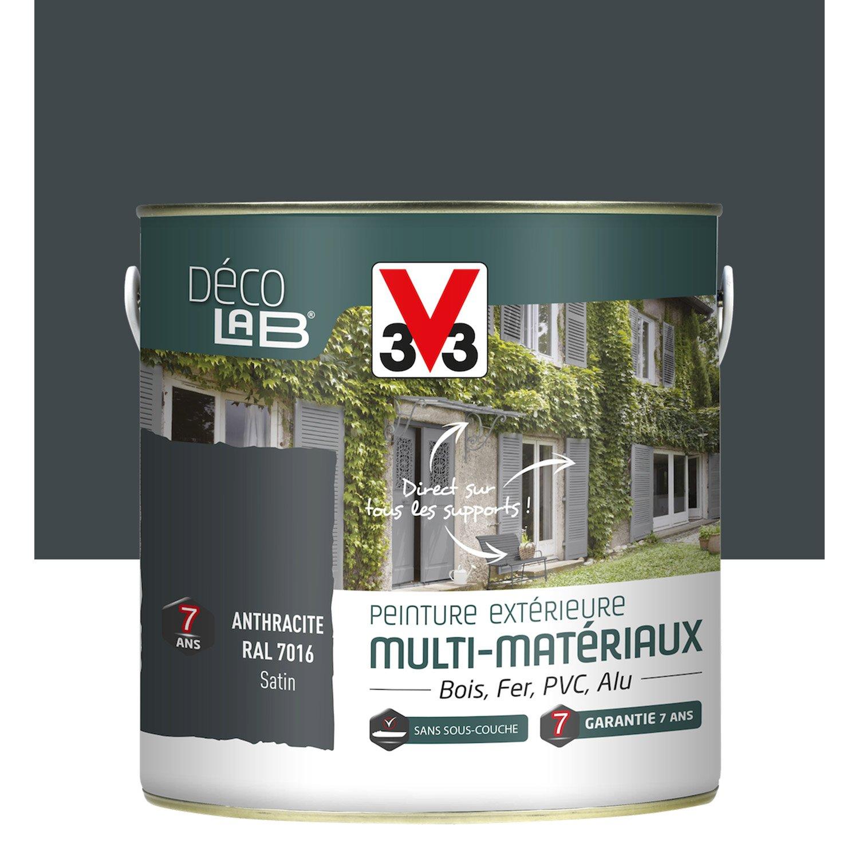 Peinture Multimatériau Extérieur V33 Anthracite 2 L