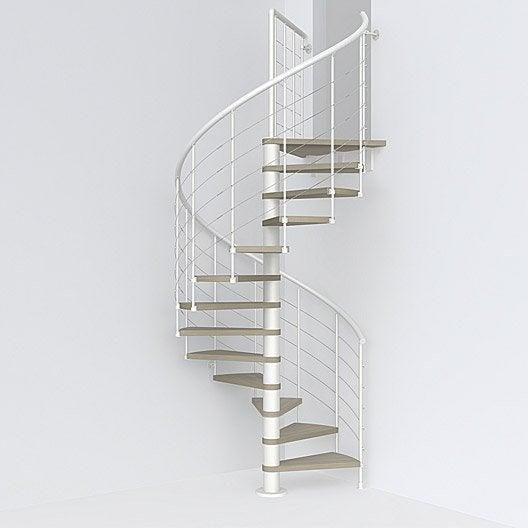 Escalier escalier bois escalier colima on au meilleur prix leroy merlin - Escalier colimacon prix ...