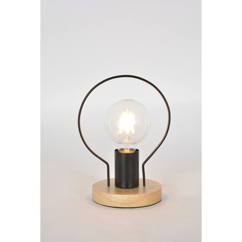 Lampe, industriel, métal noir & naturel, COREP Kera
