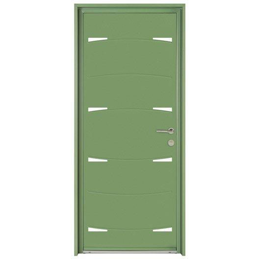 porte d 39 entr e sur mesure en aluminium nodus excellence leroy merlin. Black Bedroom Furniture Sets. Home Design Ideas