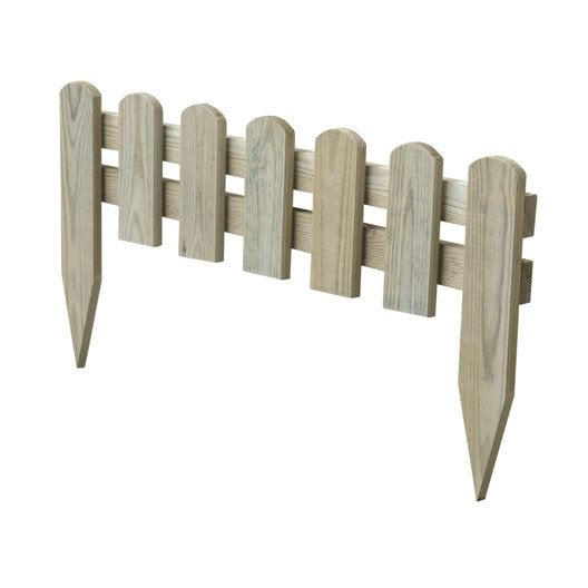 Bordure à planter Stackette bois naturel, H.30 x L.60 cm