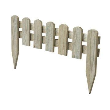 Bordure à planter Stackette bois naturel, H.30 x L.60 cm