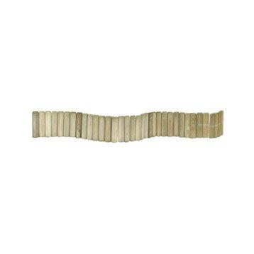 Bordure de jardin bois b ton plastique pierre acier for Bordure jardin demi rondin bois