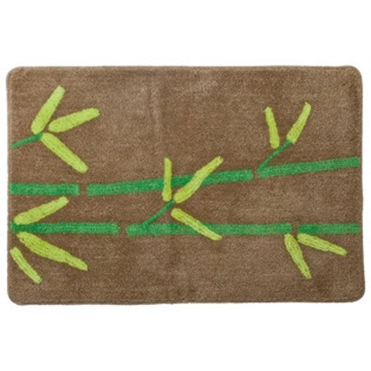 Tapis de bains bath bambou 90 x 60 cm leroy merlin - Leroy merlin tapis bambou ...