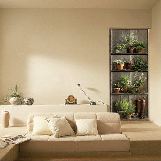 sticker porte etag re champ tre 83 cm x 204 cm leroy merlin. Black Bedroom Furniture Sets. Home Design Ideas