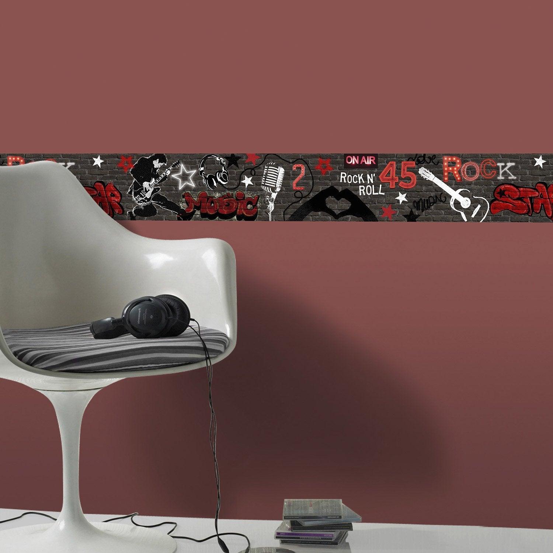 Frise vinyle adhésive Rock L.5 m x l.15 cm   Leroy Merlin