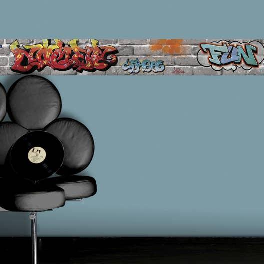 Frise vinyle adhésive Tag L.5 m x l.15 cm | Leroy Merlin