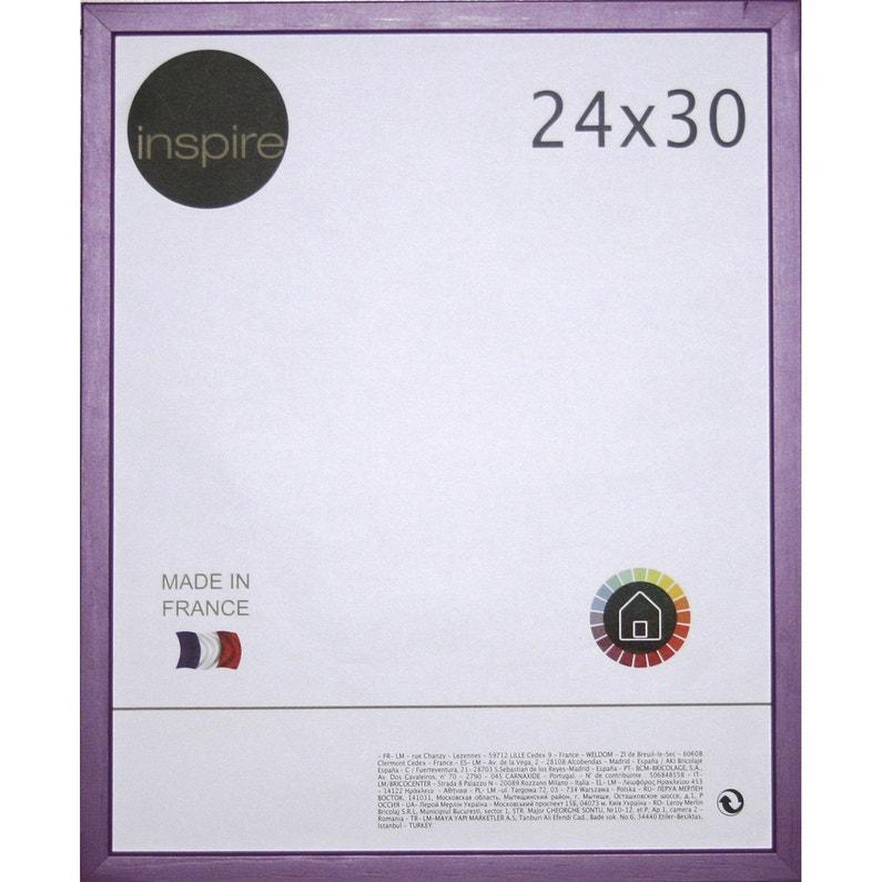 Cadre Kawaï 24 X 30 Cm Violet Tulipe N3
