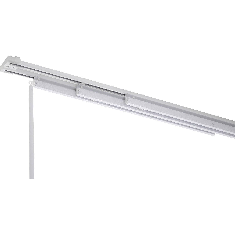 Comment Installer Panneau Japonais rail fixe pour panneau japonais, aluminium, blanc, l.140 cm