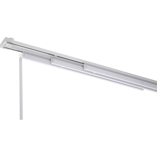 rail fixe pour panneau japonais aluminium blanc cm leroy merlin. Black Bedroom Furniture Sets. Home Design Ideas
