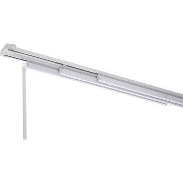 Rail fixe pour panneau japonais, aluminium, blanc, L.140 cm