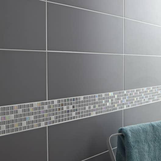 Fa ence mur gris galet n 3 loft mat x cm - Peut on mettre du parquet dans une salle de bain ...