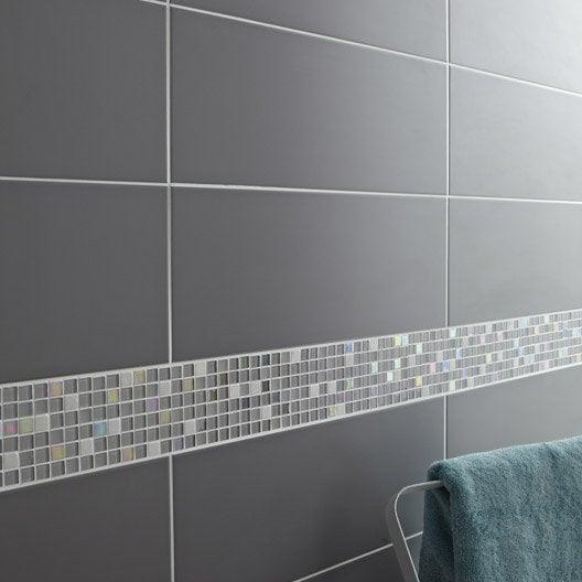 faïence mur gris galet n°3, loft mat l.20 x l.50.2 cm | leroy merlin - Galet Mural Salle De Bain