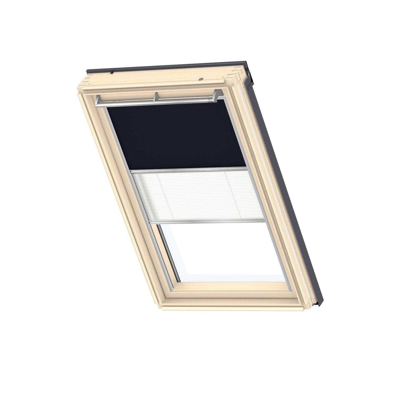 Store fenêtre de toit duo occultant plissé bleu VELUX Dfd mk04 ...