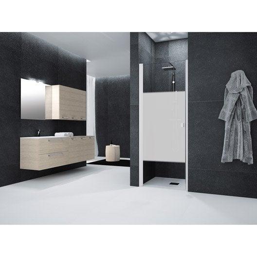 porte de douche pivotante 75 cm s rigraphi neo leroy
