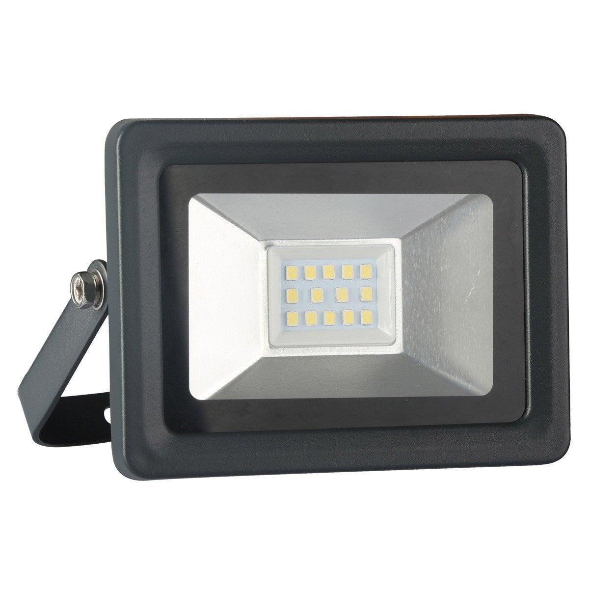 Projecteur à fixer extérieur LED intégrée 10 W = 750 Lm, noir INSPIRE