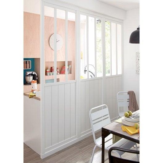 cloison amovible atelier blanc m tal x cm leroy merlin. Black Bedroom Furniture Sets. Home Design Ideas