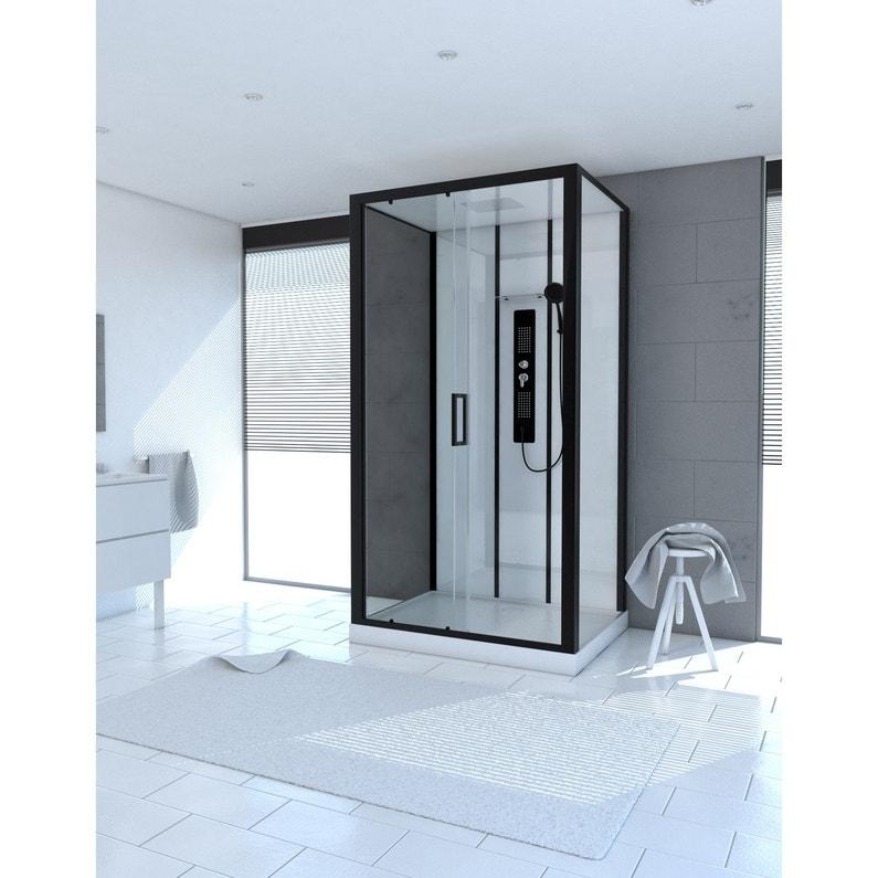 Cabine de douche rectangulaire L.115 x l.90 cm, Urban | Leroy Merlin