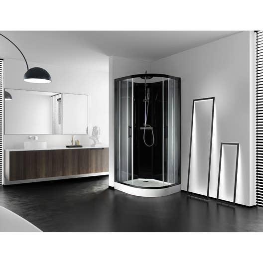 Cabine Douche Thalasso pour cabine de douche 1/4 de cercle l.90 x l.90 cm, lys | leroy merlin