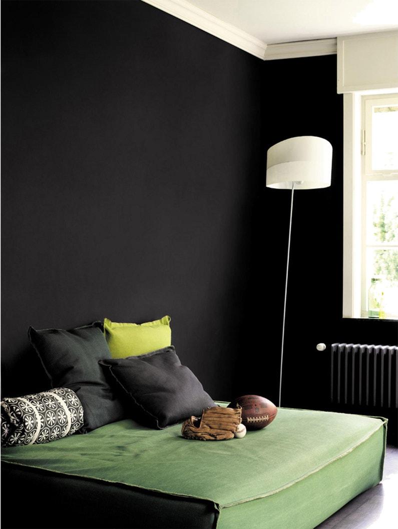 Peinture Laque Noir Mat peinture noir mat dulux valentine crème de couleur 2.5 l