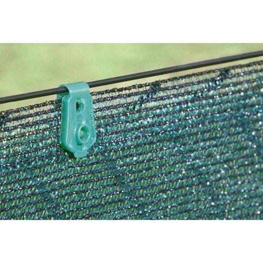 20 clips pour brise vue fixatex vert leroy merlin. Black Bedroom Furniture Sets. Home Design Ideas