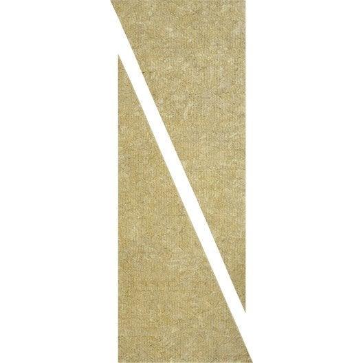 2 triangles en laine de roche deltarock rockwool x 0 6 m ep 60 mm r leroy merlin. Black Bedroom Furniture Sets. Home Design Ideas