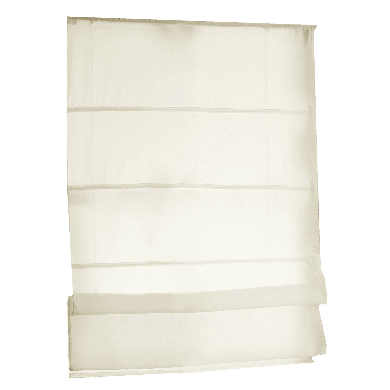 store bateau polyester ivoire x cm leroy merlin. Black Bedroom Furniture Sets. Home Design Ideas