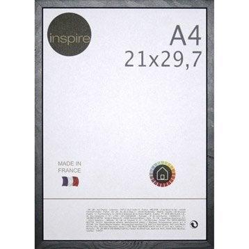 Cadre Kawaï, 21 x 29.7 cm, noir-noir n°0
